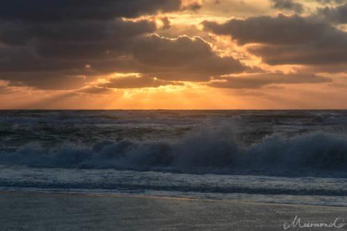 Dänemark im September - Sonnenuntergang am Meer
