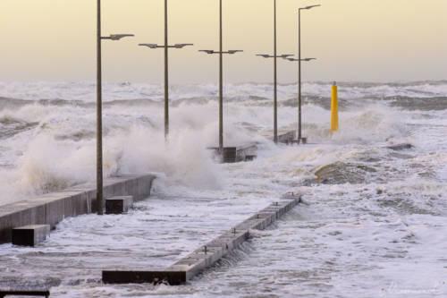 Stürmische Nordsee - Løkken Mole 3