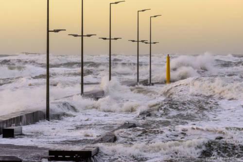Stürmische Nordsee - Løkken Mole 4