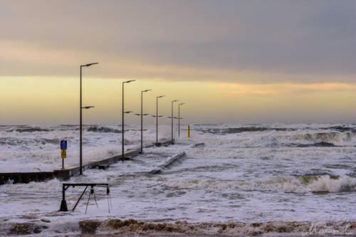 Stürmische Nordsee - Løkken Mole 5