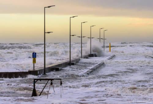 Stürmische Nordsee - Løkken Mole 6