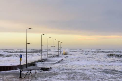 Stürmische Nordsee - Løkken Mole 7