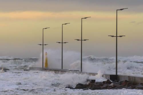 Stürmische Nordsee - Løkken Mole 11