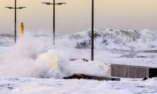 Stürmische Nordsee - Løkken Mole 13