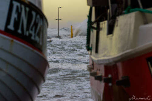 Stürmische Nordsee - Løkken Mole 14