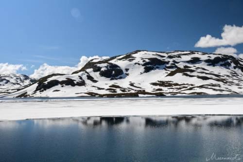 Norwegen Haukelifjell Eis
